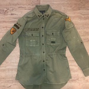 Kendall and Kylie army jacket